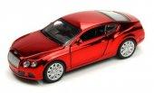 ışıklı Ve Sesli 1 32 Bently Çek Bırak Araba (Metalik Kırmızı)