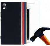 Sony Xperia L1 Silikon Kılıf + Kırılmaz Cam