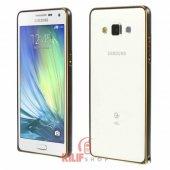 Samsung Galaxy A5 Kılıf Siyah Alüminyum Bumper Çerçeve 2xflim