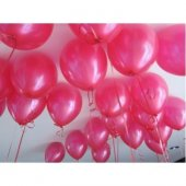 40 Adet Metalik Koyu Pembe Fuşya Balon Doğum Günü Helyumla Uçan