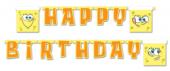Sünger Bob Happy Birthday Yazı Doğum Günü Yazısı Uzar Süs Sponge