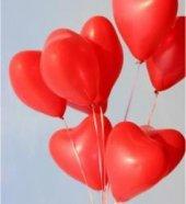 10 Adet Kırmızı Kalp Balonu Baskısız 30 Cm Helyumla Uçan Ucuz
