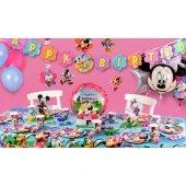Minnie Mouse Parti Malzemeleri Seti Doğum Günü Süsleri 16 Kişilik