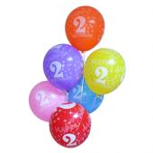 128 Adet 2 Yaş Baskılı Karışık Balon