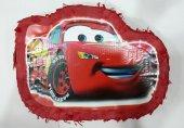 Cars Kırmızı Araba Pinyata + Sopa Şimşek Mcqueen Mekkuin Pinata
