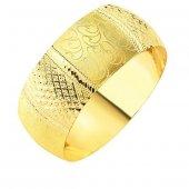 Bilezik 35,00 Gram Mega Kristal Model 22 Ayar Altın