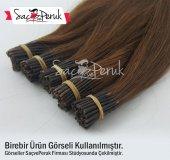 Kahverengi Boncuk Kaynak Saçlar 0,6gr 60cm Aynı Gün Kargo