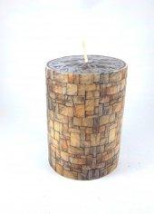 Dekoratif Mum (11*7cm) Taş Kule