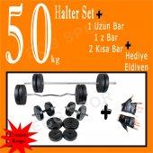 50 Kg+z Bar+halter+dambıl Seti+ücretsiz Kargo