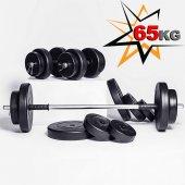 Kp60kg Halter Dambıl Ağırlık Seti Fitness Seti