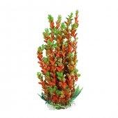 Plastik Yeşil Turuncu Bitki 41 43 Cm