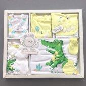 Erkek Bebek Hastane Çıkışı Yeni Doğan Zıbın Seti 10 Lu İmaj 0166