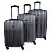 Tutqn Safari Kırılmaz Valiz 3 Lü Set Gümüş