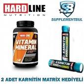 Hardline Vitamin Mineral 120 Tablet + 2 Adet Karnitin Matrix 30 M
