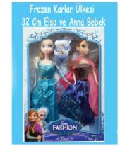 Frozen Karlar Ülkesi Figürlü Elsa Ve Anna Oyuncak Bebek Figürler