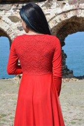 Uzun Elbise Dantel Tül Tesettür Mezuniyet Abiye Düğün Nikah Balo