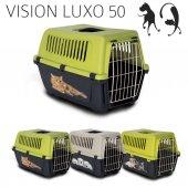 Mp Vision Luxo 50 Baskılı Kedi Ve Köpek Taşıma Kafesi 48 X 32 X 33 Cm
