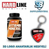 Hardline Vitamin Mineral 120 Tablet + 3d Logo Anahtarlık Hediyeli