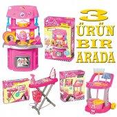 Barbie Orijinal Oyuncak Evcilik Set Mutfak Ütü Temizlik Set