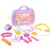 Barbie Doktor Set Çantalı 9 Prç Oyuncak Şırınga Muayene Malzemeli