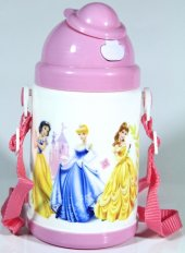 Disney Prensesler Pipetli Kapaklı Matara (350 Ml)