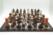 Satrançtakımı, Büyük Osmanlı Ve Roma Askerleri, Polyester Döküm, El Boyama
