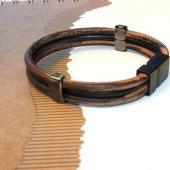 R&d Ekoavm Kahverengi Siyah Tokalı Bileklik