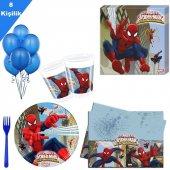 8 Kişilik Spiderman Partisi , Örümcek Adam Paket Seti 6 Parça Doğ