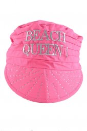 Queen Pembe Sloganlı Taşlı Bandana