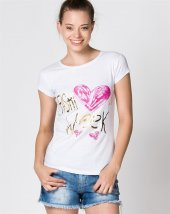 Bonalodi Fashion Week Beyaz Kadın T Shirt