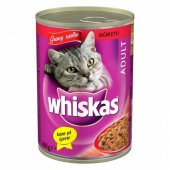 Whiskas Kedi Konserve Maması Biftekli 400gr