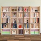 Nur Mobilya 5'li Kitaplık Meşe Beyaz
