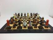 Lüks Satranç Takımı,kanuni Sultan Süleyman Ve Roma, Polyester Döküm, El Boyama, Hediyelik