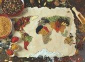 Anatolian 1000 Parça Puzzle Baharatlı Dünya Haritası (Herbal World Map)