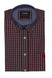 Pıngömlek Henrı Yıkamalı Kısa Kol Ekose Erkek Gömlek