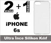 Iphone 6s Şeffaf Silikon Kılıf Ultra İnce 0,20 Mm