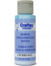 Craftsy Enamel Akrilik Cam Ve Porselen Boyası E 352 Bebek Mavisi