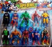 Avengers Yenilmezler Oyuncak Figür Süper Kahramanlar 10 Lu Set