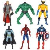 Avengers Süper Kahramanlar 6 Adet Işıklı Oyuncak Figür Seti