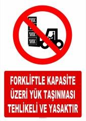 At 1421 Forkliftle Kapasite Üzeri Yük Taşınması Tehlikeli Ve Y