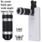 Sony Xperia X Xa 4 İn 1 Lens 8x Teleskop Markacase
