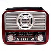 Everton Şarjlı Radyo Mp3 Müzik Çalar Fener Usb Sd Tf Aux Rt856