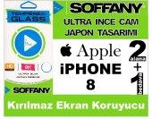 Soffany İphone 8 Temperli Kırılmaz Cam Ekran Koruyucu