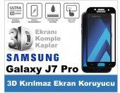 Samsung J7 Pro 2017 3d Komple Kapatan Kırılmaz Cam Ekran Koruyucu