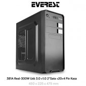 Everest 381a Peak 300w Mid Tower Kasa Siyah