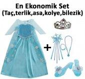 Orijinal Elsa Kostümü Seti Tüm Aksesuarları İle Ekonomik Kampan