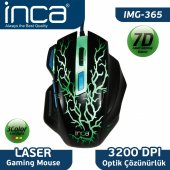 ınca Img 365ms 3200 Dpı 7d Siyah Gaming Mouse