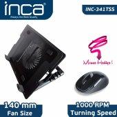 ınca Inc 341tss Notebook Soğutucu + Mouse Set Siyah