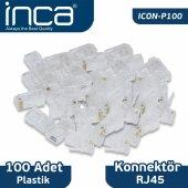 ıcon P100 Inca Rj 45 100 Adet Plastik Konnektör