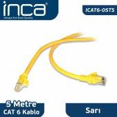 ıcat6 05ts Inca Cat6 5 Metre Sarı